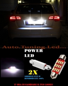 AUDI A3 8P 2003-2008 LUCI TARGA 12 LED SMD BIANCO ALTA QUALITA' 36MM NO ERRORE