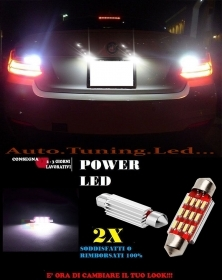 BMW GT GRAN TURISMO LUCI TARGA 12 LED SMD BIANCO ALTA QUALITA' 36MM NO ERRORE