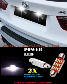 BMW X3 F25 2010-2014 LUCI TARGA 12 LED SMD BIANCO ALTA QUALITA' 36MM NO ERRORE