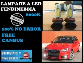 AUDI A1 LAMPADE FENDINEBBIA H11 LED CREE RESISTENZA CANBUS 6000K