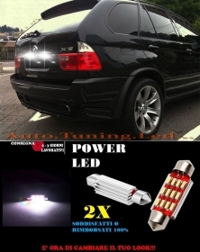 BMW X5 E53 99-05 LUCI TARGA 12 LED SMD BIANCO ALTA QUALITA' 36MM NO ERRORE