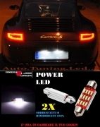 PORSCHE 911 997 LUCI TARGA 12 LED SMD BIANCO ALTA QUALITA' 36MM NO ERRORE
