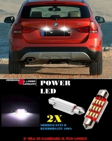 BMW X1 E84 LUCI TARGA 12 LED SMD BIANCO ALTA QUALITA' 36MM NO ERRORE