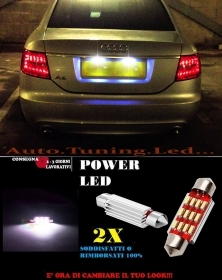 AUDI A6 4F C6 04-11 LUCI TARGA 12 LED SMD BIANCO ALTA QUALITA' 36MM NO ERRORE