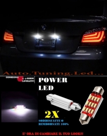 BMW SERIE 5 E60 E61 LUCI TARGA 12 LED SMD BIANCO ALTA QUALITA' 36MM NO ERRORE