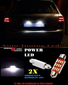 AUDI A6 C5 4B 97-05 LUCI TARGA 12 LED SMD BIANCO ALTA QUALITA' 36MM NO ERRORE