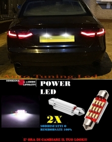 AUDI A4 B8 8K LUCI TARGA 12 LED SMD BIANCO ALTA QUALITA' CANBUS 36MM NO ERRORE