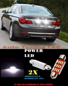 BMW SERIE 7 04-14 LUCI TARGA 12 LED SMD BIANCO ALTA QUALITA' 36MM NO ERRORE