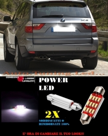 BMW X3 E83 LUCI TARGA 12 LED SMD BIANCO ALTA QUALITA' CANBUS 36MM NO ERRORE
