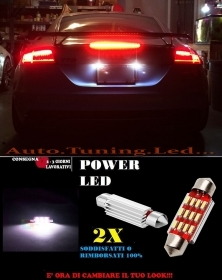 AUDI TT 8J 06-10 LUCI TARGA 12 LED SMD BIANCO ALTA QUALITA' 36MM