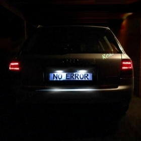 AUDI A6 C5 4B 97-05 LUCI TARGA LED BIANCO CANBUS 36MM 6 LED SMD C5W NO ERRORE