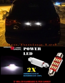 AUDI Q7 RSQ7 LUCI TARGA 12 LED SMD BIANCO ALTA QUALITA' CANBUS 36MM NO ERRORE