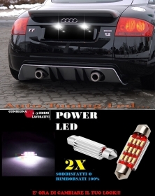 AUDI TT 8N 98-06 LUCI TARGA 12 LED SMD BIANCO ALTA QUALITA' 36MM NO ERRORE