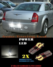 CHRYSLER 300C 04-14 LUCI TARGA 20 LED SMD BIANCO ALTA QUALITA' T10 NO ERRORE