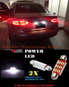 AUDI S5 A5 RS5 LUCI TARGA 12 LED SMD BIANCO ALTA QUALITA' 36MM NO ERRORE