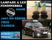 LAMPADE FENDINEBBIA H8 LED CREE RESISTENZA CANBUS 6000K VW POLO 6R 2010 IN POI