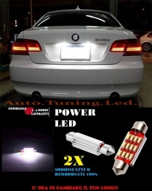 BMW E92 E93 LUCI TARGA 12 LED SMD BIANCO ALTA QUALITA' CANBUS 36MM NO ERRORE