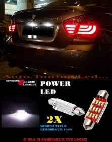 BMW SERIE 3 E90 E91 LUCI TARGA 12 LED SMD BIANCO ALTA QUALITA' 36MM NO ERRORE