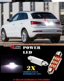 AUDI Q3 SQ3 RSQ3 LUCI TARGA 12 LED SMD BIANCO ALTA QUALITA' 36MM NO ERRORE