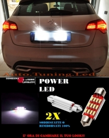 CITROEN DS LUCI TARGA 12 LED SMD BIANCO ALTA QUALITA' 36MM NO ERRORE