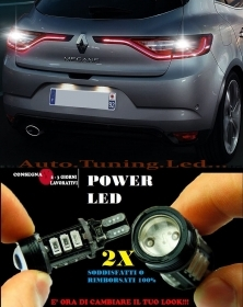 RENAULT MEGANE IV 6000K LAMPADE RETROMARCIA A LED T15 W16W CANBUS NO ERROR