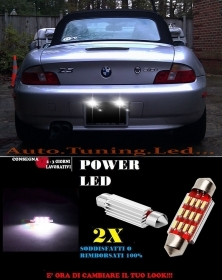 BMW Z3 LUCI TARGA 12 LED SMD BIANCO ALTA QUALITA' 36MM NO ERRORE