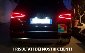 COPPIA LUCI TARGA 6 LED AUDI Q5 08-14 NO ERROR 36MM C5W CANBUS NO ERRORE