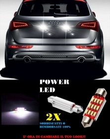 AUDI Q5 SQ5 RSQ5 LUCI TARGA 12 LED SMD BIANCO ALTA QUALITA' 36MM NO ERRORE